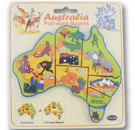 Australia Map Jigsaw.Australian Map Jigsaw Magnet Set Buy In Sydney