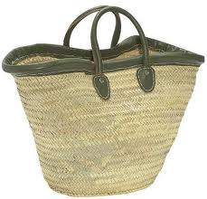 Buy Market Basket with leather trim