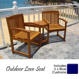 Sorrento Outdoor Living Adirondack Jack And Jill Twin Seat