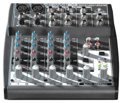 Buy Xenyx 802 mixer - 8 input - 2 bus - Behringer. 802
