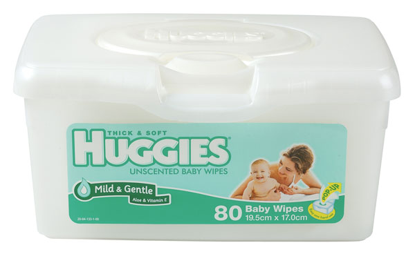 Huggies Unscented Tub 80 Wipes