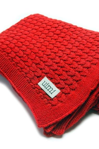 Buy Uimi Ruby Merino Cot Blanket