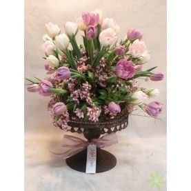 Buy Tulip Pedestal Arrangement