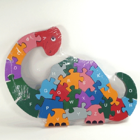 Buy 26 piece wooden Dinosaur jigsaw A-Z