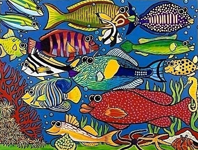 Buy Party At The Reef (100 Piece) Artist - Stephanie McLaughlin