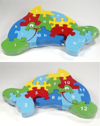 Buy 12 piece wooden Dolphin jigsaw
