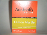 Buy Australis 25 Native Lemon Myrtle Tea Bags