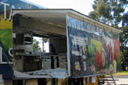 Mobile commercial hospitality kitchens