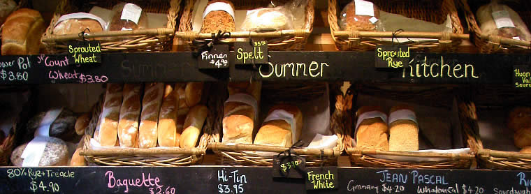 BakeryOur bakery shelves contain an interesting assortment of locally-baked boutique-style breads and rolls from Jean-Pascal, Richmond Bakery and Summer Kitchen.    We also offer a daily selection of home-baked pies, quiches, cakes, slices and biscuits.
