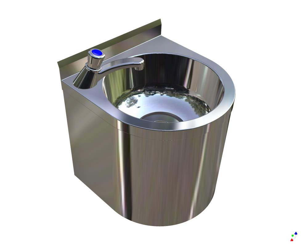 Buy Britex Stainless Steel Vandal Resistant Hand Wash Basin