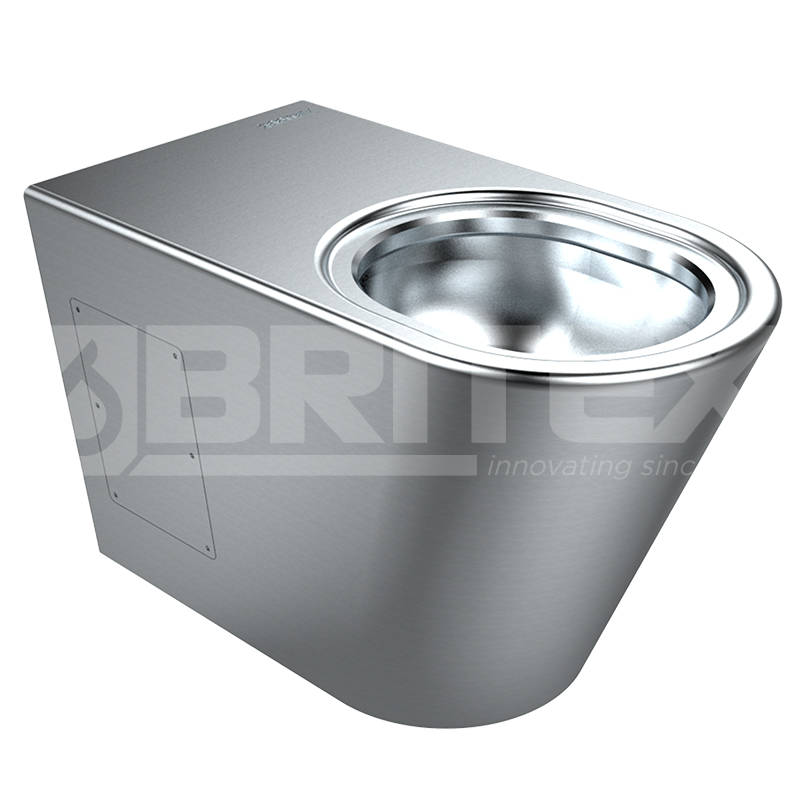 Britex Grandeur Stainless Steel Toilet Pan - WC