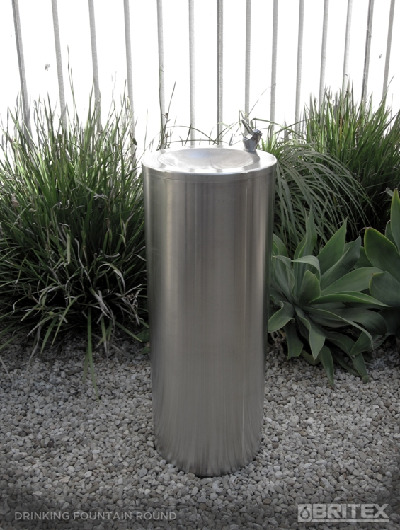 Buy Britex Stainless Steel Round Pedestal Drinking Fountain