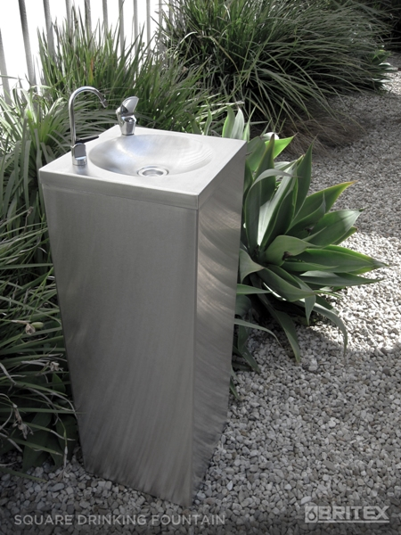 Buy Britex Stainless Steel Square Pedestal Drinking Fountain