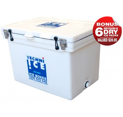 Buy Ice Box Coolers - 60L Techni Ice White