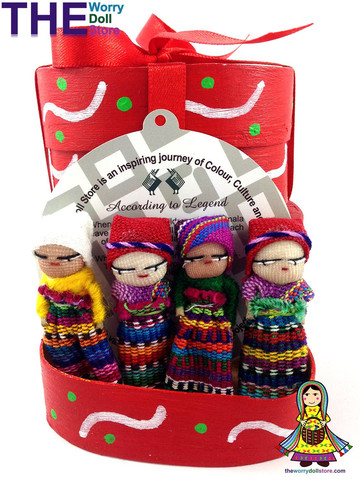Buy Worry Dolls in Box Handmade in Guatemala by Mayan Artisans