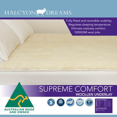 Buy Quilt supreme comfort woollen underlay