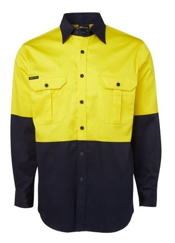 Buy JB's Wear - Hi Vis Long Sleeve Shirt 190gsm