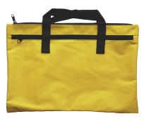 Carry pencil case with 2 zips-yellow