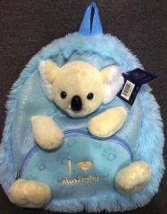Australian blue Koala travel backpack bag
