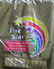Five Star Table Skirts Metallic Gold