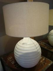Textured White Lamp Base and Shade