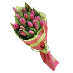 Gift Wrapped Tulip Bouquet