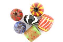 Glass Mix Big Trade Beads