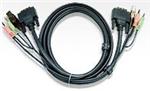 Aten DVI KVM Cable with Audio 1.8m