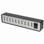 10 Port USB 2.0 HUB with Power Adaptor (6+4 Port