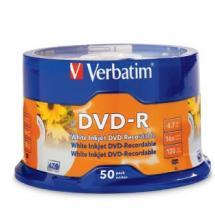 DVD-R 4.7GB 50Pk White InkJet 16x