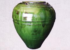 Bermese Glazed Strap Jar