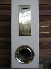 Letterbox Picket Fence Cream/Brass