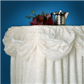 Wedding lace skirting with no valance
