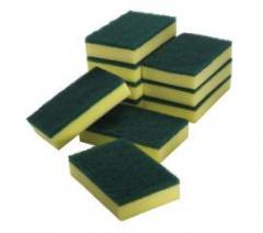 Oates green scour yellow sponge SC-110 PK10