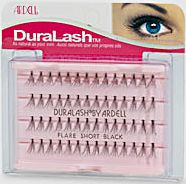 Duralash flare short black lashes set