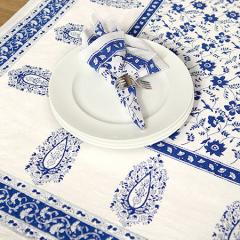 Floral Blue & White Table Linens