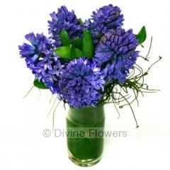 Hyacinth Vase (Blue)
