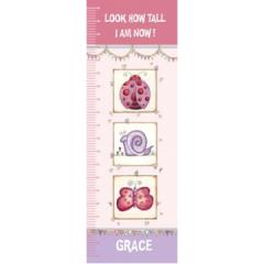Personalised Canvas Growth Chart - Happy Bugs