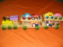 Wooden Train With Car