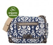 Medieval Blue Ikat Tapestry Messenger Diaper Bag