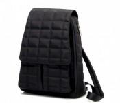 Black Large Square Quilt Backpack Diaper Bag