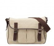 Military Stone Washed Canvas Satchel Diaper Bag