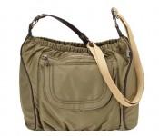 Burnt Olive Nylon Twill Across Body Diaper Bag