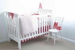 Red Plum Linen Fitted Cot Sheet