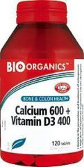 Calcium 600 + Vitamin D3 400 by Bio-Organics