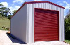 Garage with large doors