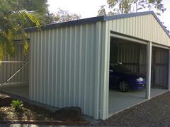 High Titan blue garage