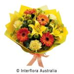 Bright bouquet in yellows and oranges