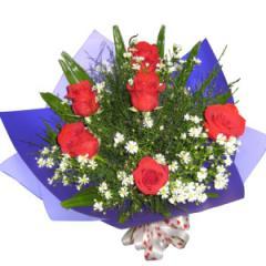 Half a Dozen Rose Bouquet