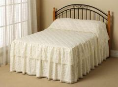 Donna Double Skirted Lace Reversesham Bedspread
